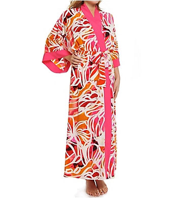 Natori Zelda Printed Long Robe