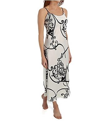 Natori Selis Printed Charmeuse Gown