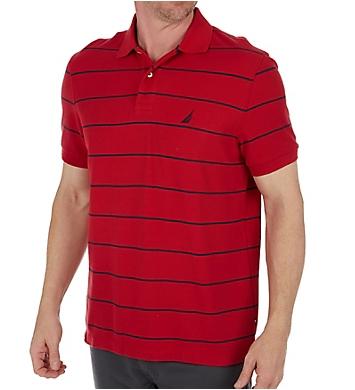 Nautica Performance Wicking Striped Polo Shirt