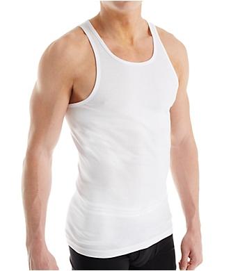 Nautica 100% Cotton Ribbed Tanks - 3 Pack