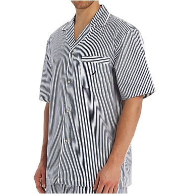 Nautica Anchor 100% Cotton Poplin Camp Shirt