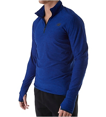 New Balance Space Dyed Quarter Zip Long Sleeve Shirt