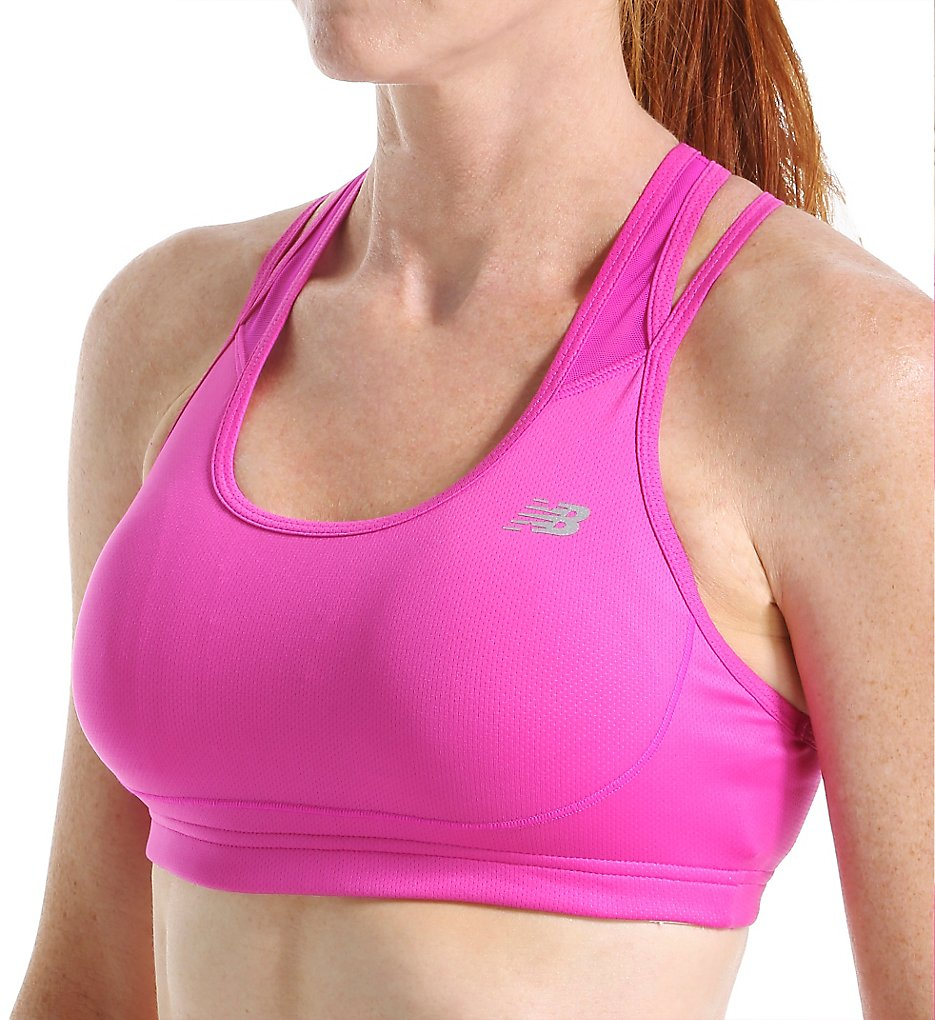 New Balance WB53002 The Tonic Crop Sports Bra (Azalea)