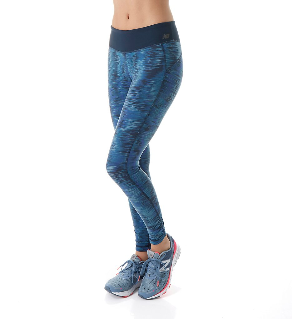 New Balance WP61145 Premium Performance NB Dry Printed Tights (Galaxy Tech Print)