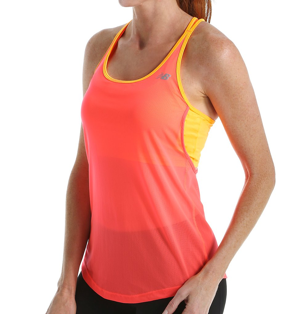 New Balance WT61228 NB Ice Hybrid Two In One Bra Tank (Dragon Fly)