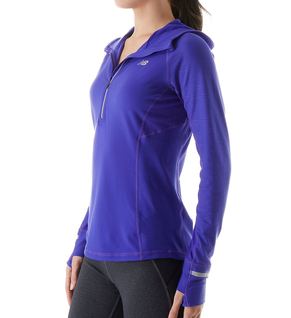 New Balance WT63220 NB Heat Half Zip with Hood (Spectral)