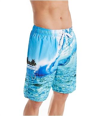 Newport Blue H2O Wave Print Swim Trunk