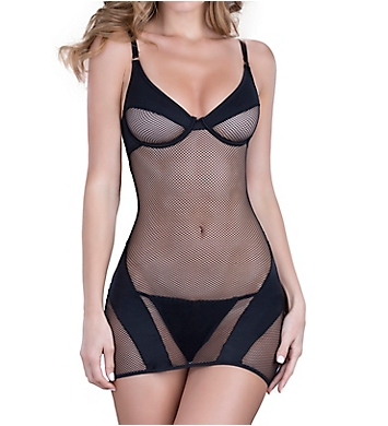 Oh La La Cheri Fishnet Chemise with G-String