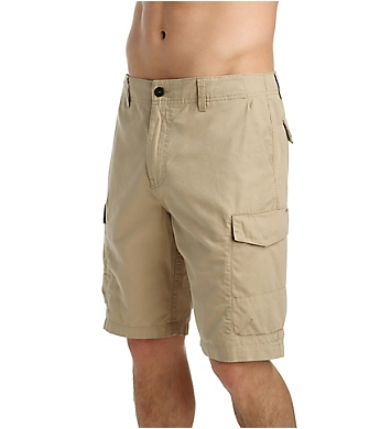 O'Neill Black Hawk 100% Cotton Twill 21 Inch Cargo Shorts