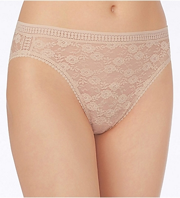 OnGossamer Stretch Lace Hi-Cut Brief Panty