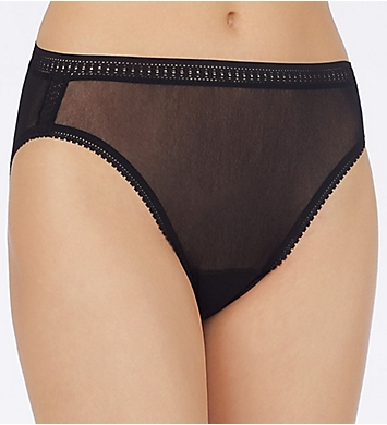 OnGossamer Mesh Hi Cut Brief Panties