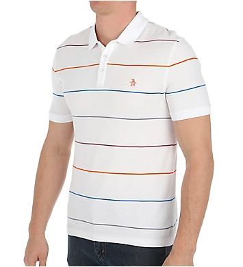 Original Penguin Fine Pop Stripe Heritage Slim Fit Polo