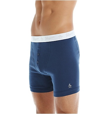 Original Penguin 100% Cotton Button Boxer Brief - 3 Pack