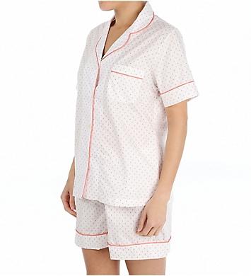 P-Jamas Miami Flamingos Woven Short PJ Set