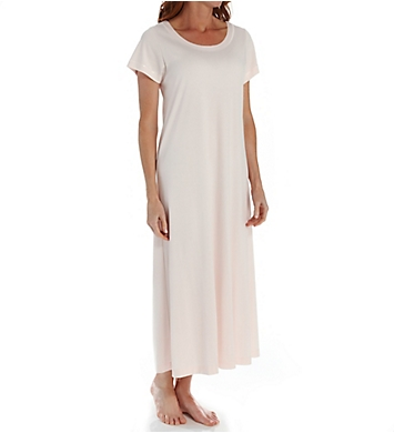 P-Jamas Butterknits Long Nightgown With Short Sleeves