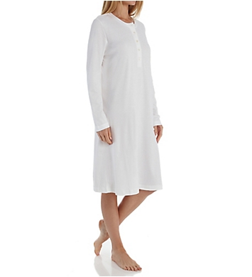 P-Jamas Butterknits Long Sleeve Button Front Gown
