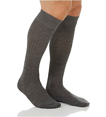 Pantherella Over The Calf Merino Wool Ribbed Socks