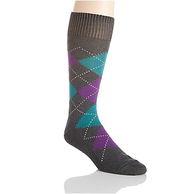 Pantherella Luxury Egyptian Cotton Rib Argyle Sock
