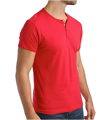 Papi Knit Jersey Cotton Stretch Short Sleeve Henley