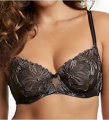 Paramour by Felina Ellie Floral Embroidery on Tulle Unlined Demi Bra