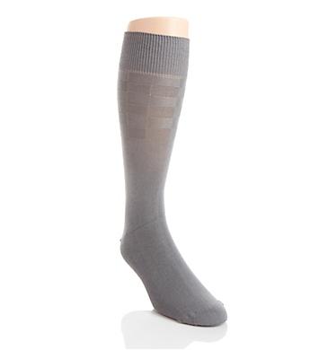 Perry Ellis Triple S Comfort Stretch Half Plaid Sock