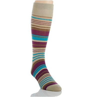 Perry Ellis Tencel Striped Luxury Sock