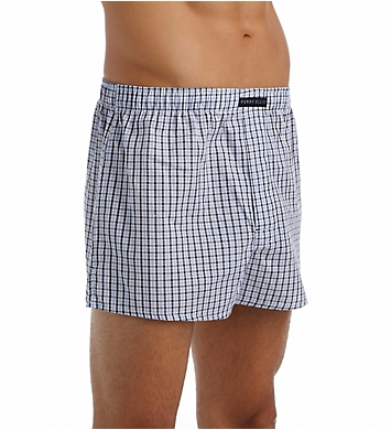 Perry Ellis Small Plaid Assorted Woven Boxers - 3 Pack
