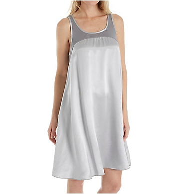 PJ Harlow Satin and Rib Nightgown