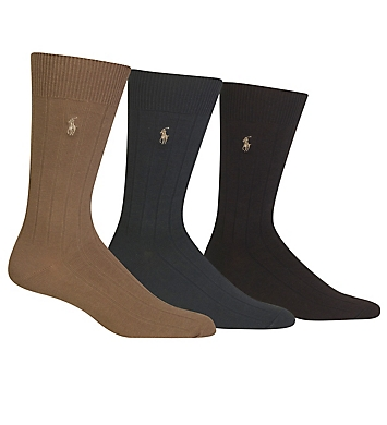 Polo Ralph Lauren Casual Dress Ribbed Socks 3-Pack