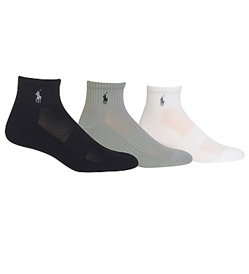 Polo Ralph Lauren Tech Athletic Quarter Top Socks - 3 Pack