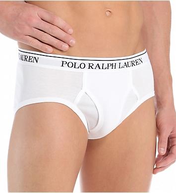 Polo Ralph Lauren Classic Fit 100% Cotton Low Rise Briefs - 4 Pack