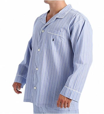 Polo Ralph Lauren Tall Man Woven Cotton Long Sleeve Pajama Top