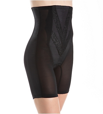 Rago High Waist Half Leg Shaper with Zipper
