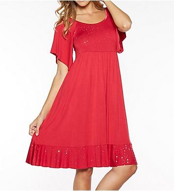 Rhonda Shear Shimmer Raglan Sleeve Sleep Gown
