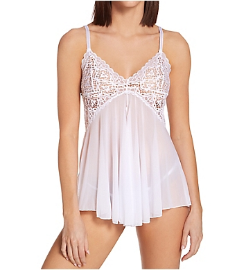 Shirley of Hollywood Adorable Stretch Lace And Net Babydoll
