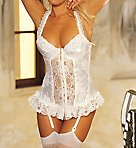 Satin Tapestry Flowered Jacquard Longline Bustier