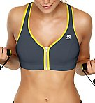 Active Zipped Plunge Sports Bra