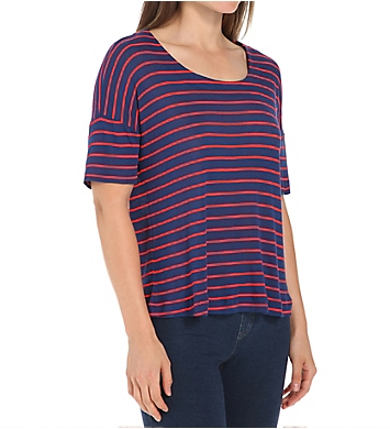 Splendid New Haven Stripe Drop Shoulder Tee