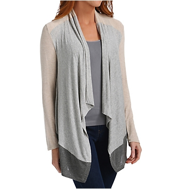 Splendid Color Blocked Drapey Lux Cardigan
