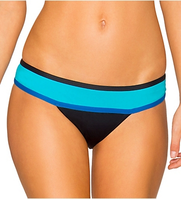 Swim Systems Block Party Blue Wide Band Hipster Swim Bottom