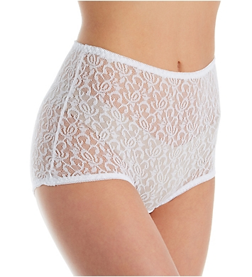 Teri Basic Lace Full Cut Brief Panties - 3 Pack