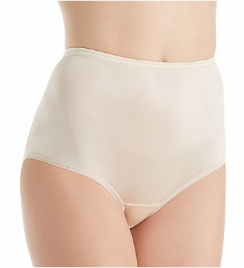 Teri Full Cut Nylon Brief Panty - 4 Pack