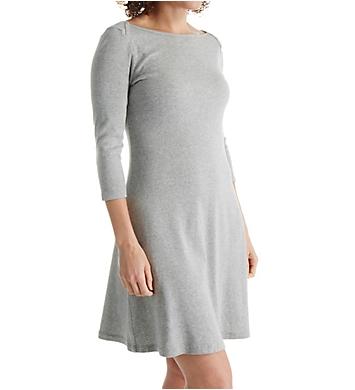Three Dots Cotton Trista 3/4 Sleeve British Dress