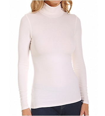 Three Dots 2x1 Viscose Long Sleeve Turtleneck