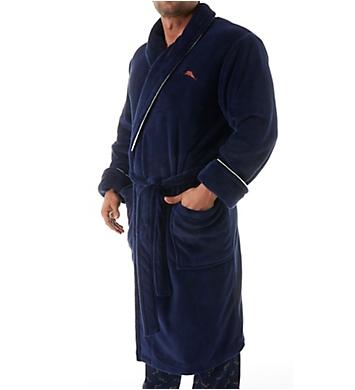 Tommy Bahama Swing Shift Back Embroidered Panel Plush Robe