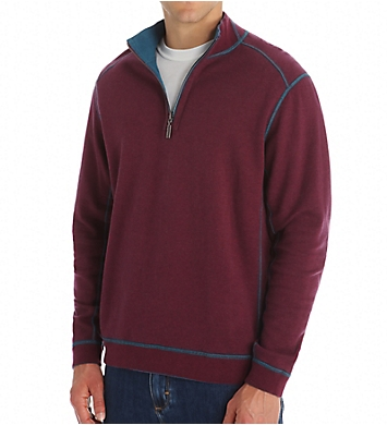 Tommy Bahama Flip Side Twill Reversible Half Zip Pullover