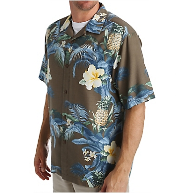 Tommy Bahama Island Zone Shut The Frond Door Silk Shirt
