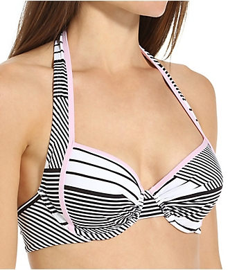 Tommy Bahama Slanted Stripes Underwire Full Coverage Swim Top