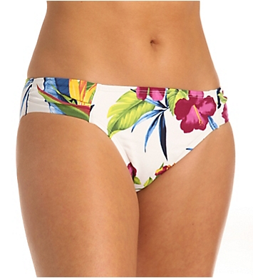 Tommy Bahama Happy Hibiscus Side Shirred Hipster Swim Bottom