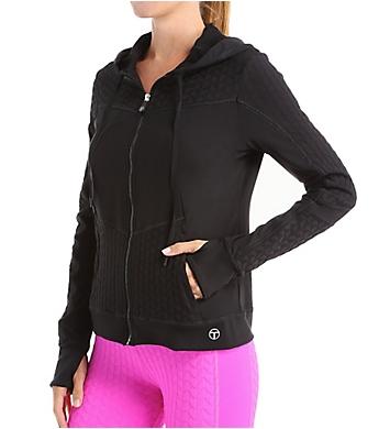 Trina Turk Bermuda Triangle Solids Hooded Jacket